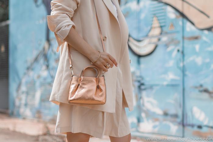 Bolso Bandolera de piel dorado Crossbody Bag  AGL