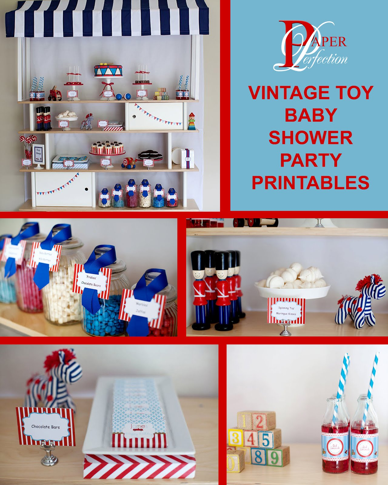 Paper Perfection Vintage Toy Party Printables For A Baby Shower Or