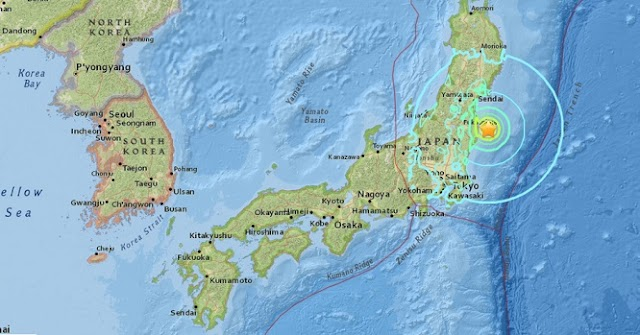Japan: Earthquake Hits Fukushima with an initial magnitude of 7.1