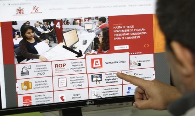 JNE invoca a partidos a usar ventanilla única para seleccionar candidatos idóneos