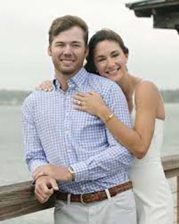 Sam Burns With His Girlfriend Carolin