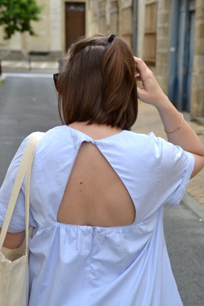 dos ouvert robe short Zara