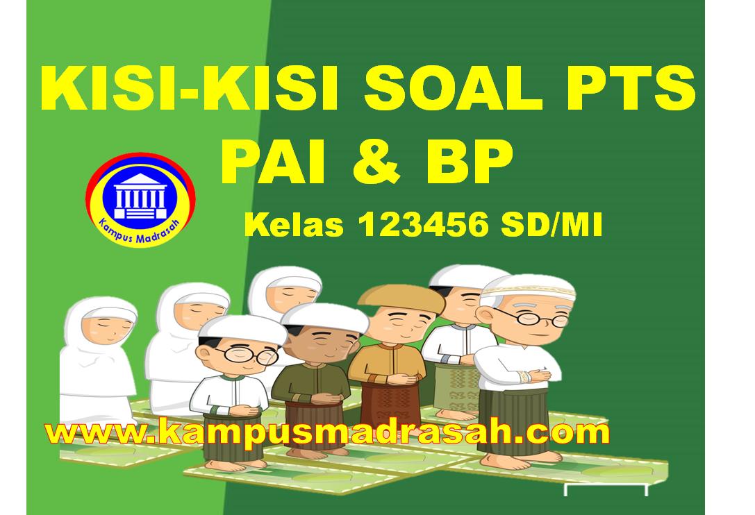 Kisi-kisi Soal PTS PAI Dan BP Kelas 1 2 3 4 5 6 SD