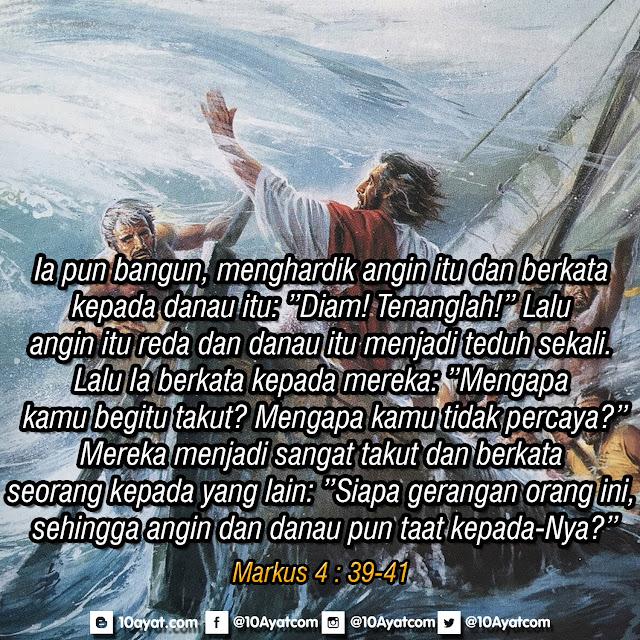 Markus 4 : 39-41