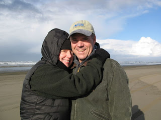 Owners of NorthPoint Paddles, Randy and Brita, visiting Long Beach WA