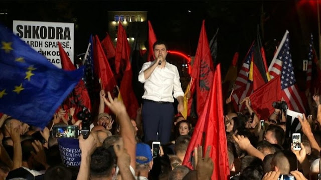 10th protest of Albanian Opposition peaceful finally