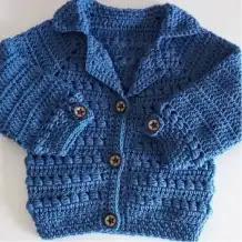 Abrigo de Bebé Bomber a Crochet