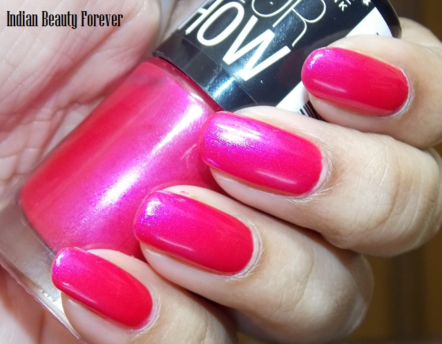 Maybelline Color Show Kiss Me Pink And Moon Beam Swatches