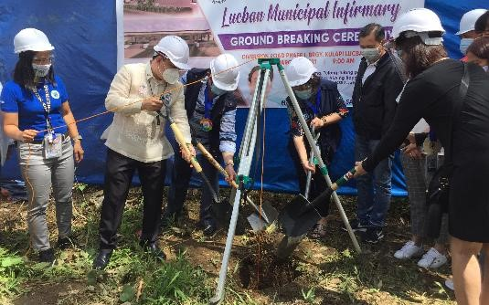 Department of Health in Calabarzon leads groundbreaking ceremony of Lucban first public hospital