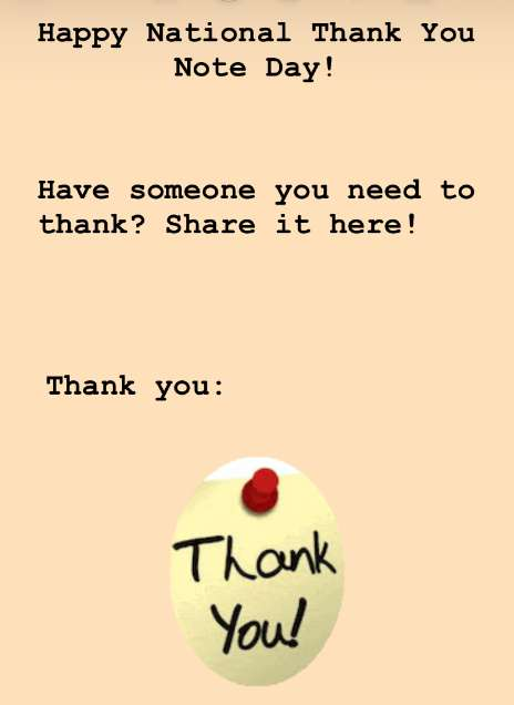 National Thank You Note Day Wishes Awesome Picture
