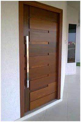 desain pintu minimalis modern kontemporer