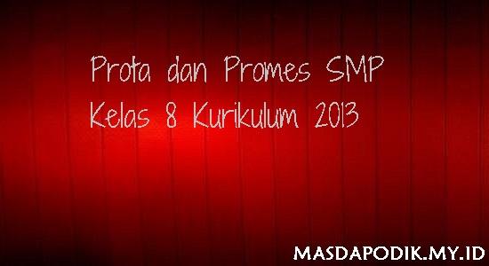 Prota dan Promes SMP Kelas 8 Kurikulum 2013