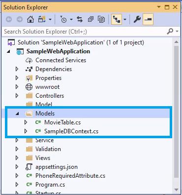 Entity Framework - Solution Explorer