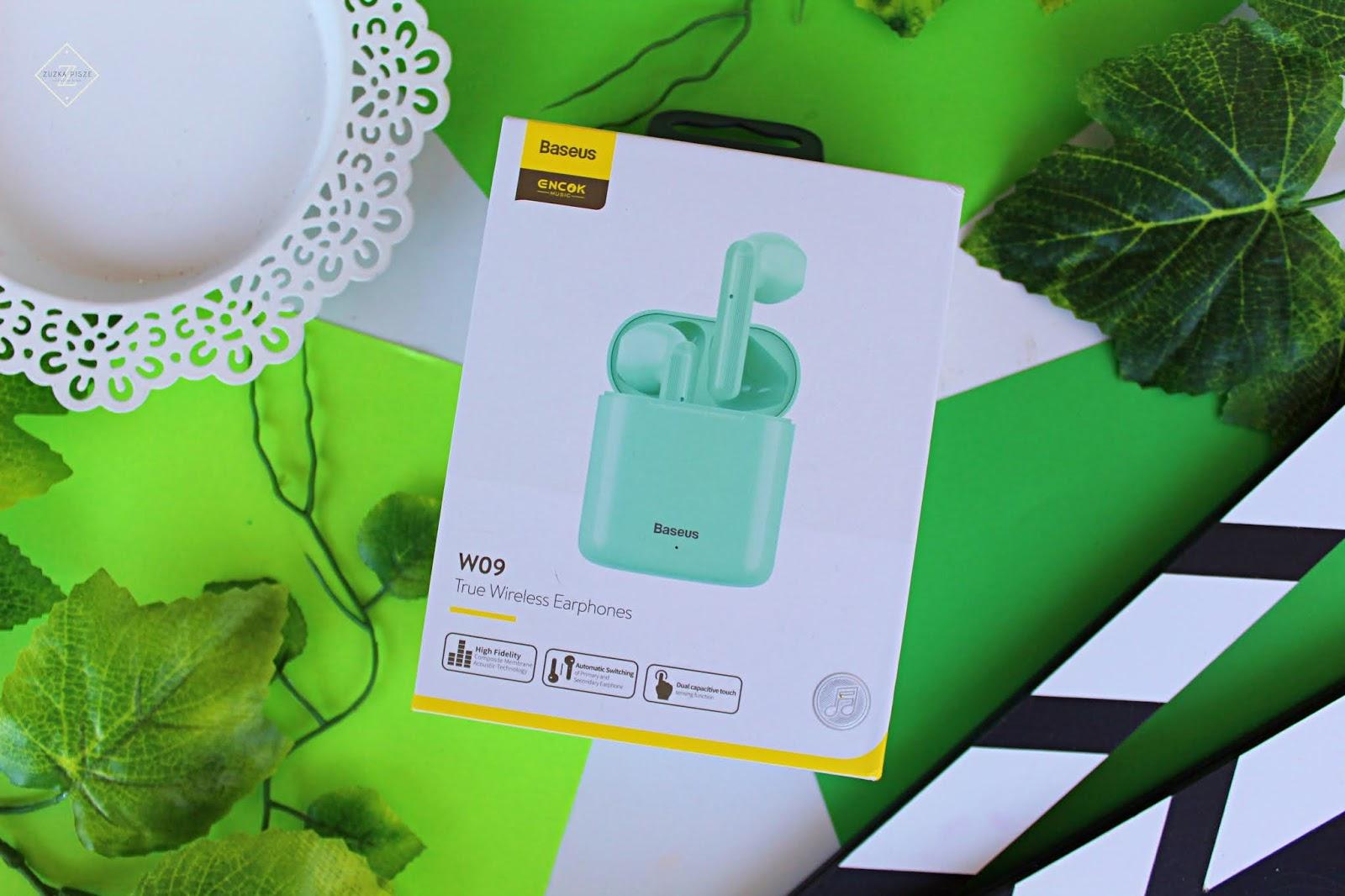 Bezprzewodowe słuchawki Baseus W09 TWS zielone - IziGSM