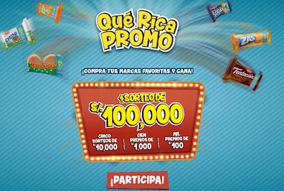 [Sorteo] Gana premios de dinero en efectivo por S/100.000, S/10.000, S/1.000 y más - Qué Rica Promo