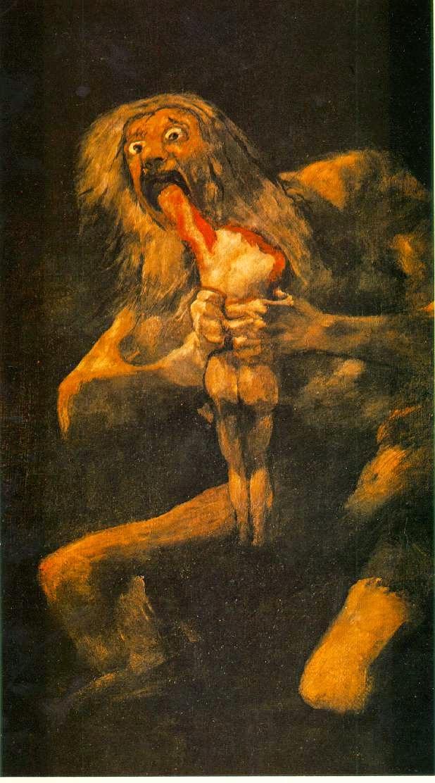 Saturno Devorando Seu Filho - Goya, Francisco e suas pinturas ~ Foi um importante pintor espanhol da fase do Romantismo