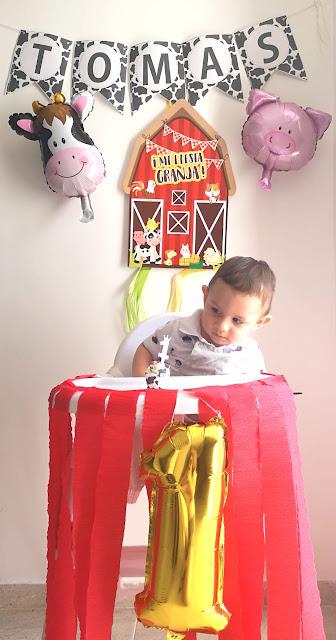 highchair decor 1st birthday