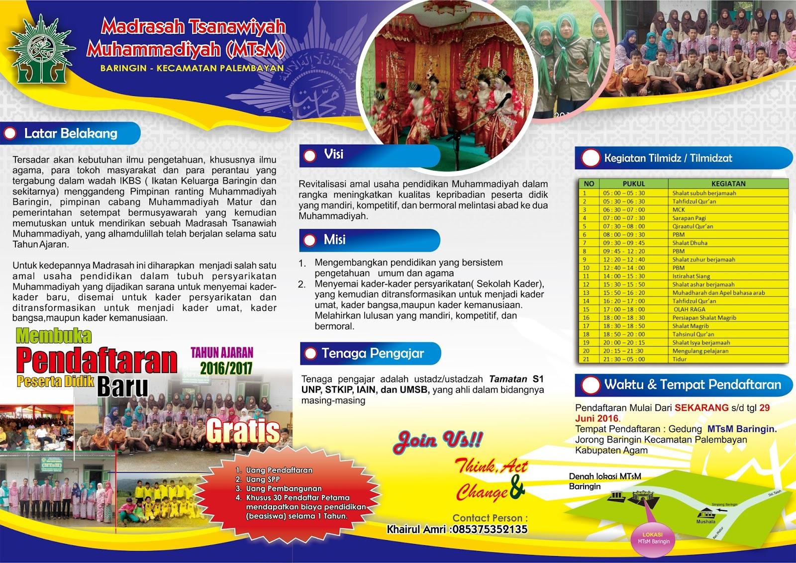 Download Desain Brosur Promosi Untuk Madrasah Dan Sekolah
