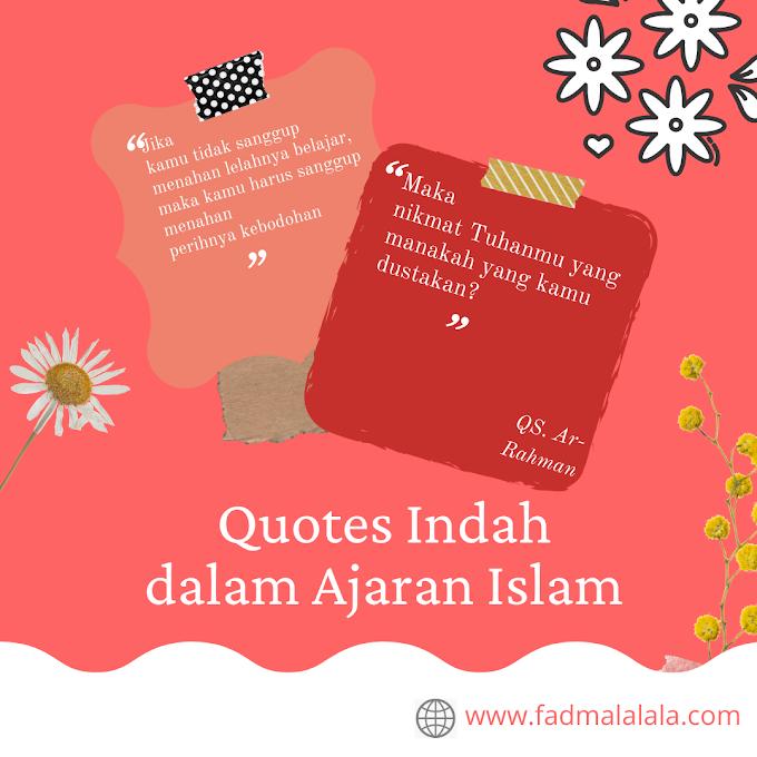 5 Quotes Indah dalam Ajaran Islam