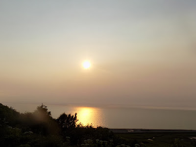 Red Sunset at 10:00 p.m. Ninilchik due to Smoke from Swan Lake Fire