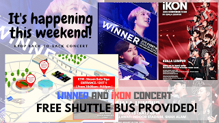[Kpop Info] Count Down To K-POP Marathon with iKON and WINNER First Back-To-Back K-POP Show with One Weekend Free Shuttle Bus Provided