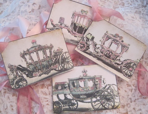 CINDERELLA CARRIAGE Gift Tags
