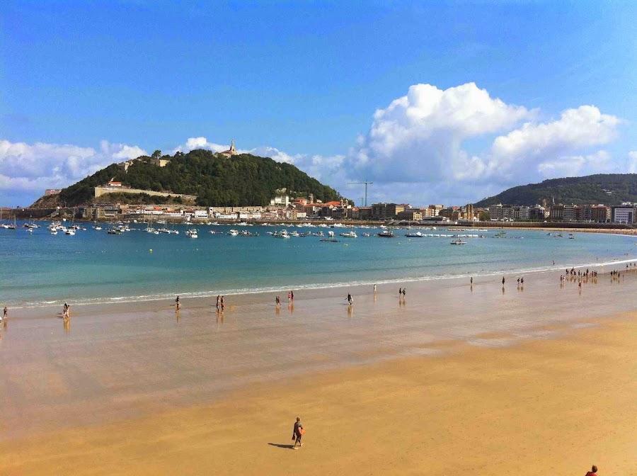 La Playa de la Concha en San Sebastián