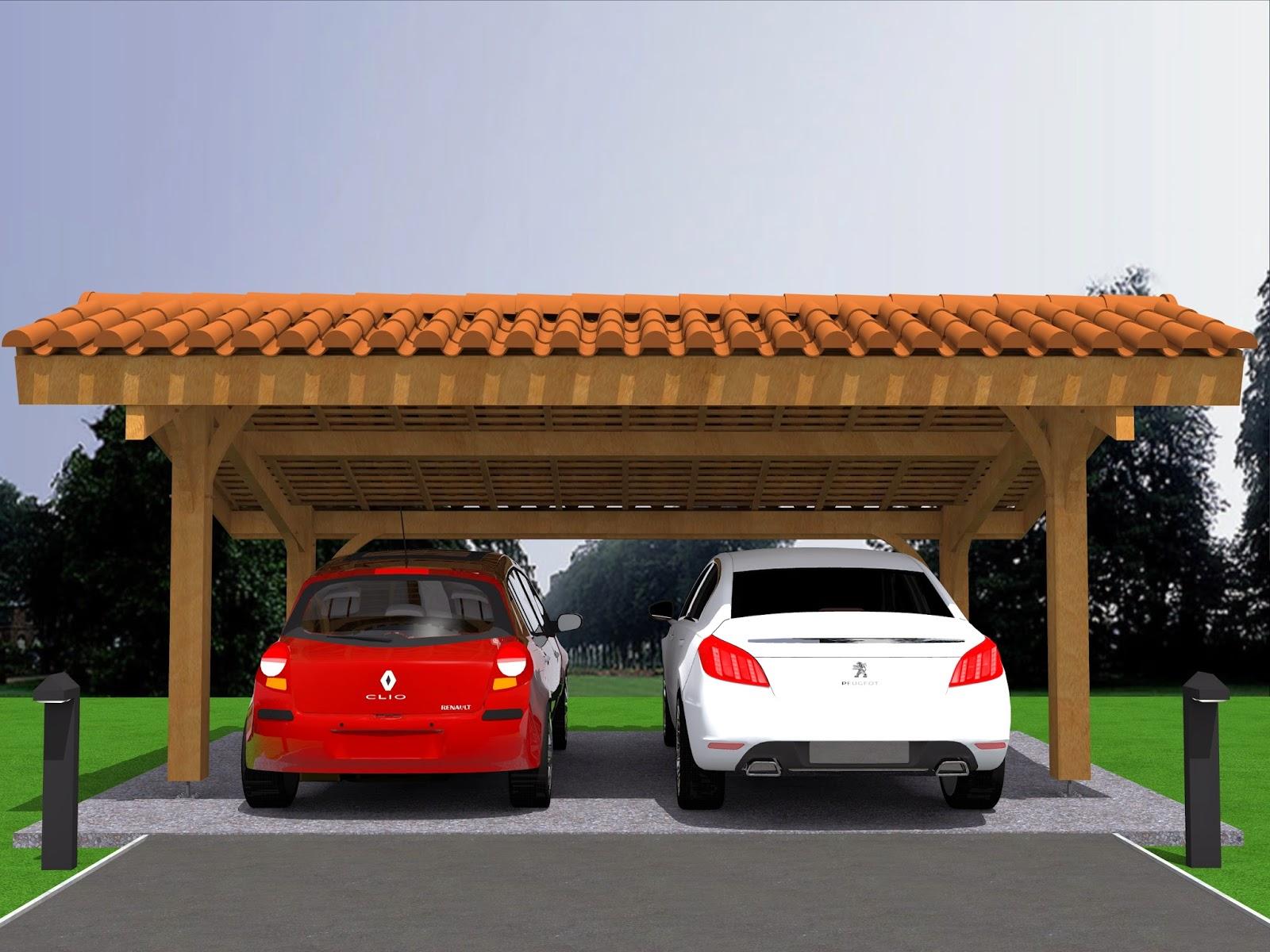 mod lisation projet carport bois 2 voitures avec sketchup pro. Black Bedroom Furniture Sets. Home Design Ideas