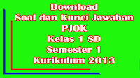 download soal dan kunci jawaban uts pjok kelas 1 sd semester 1 kurikulum 2013