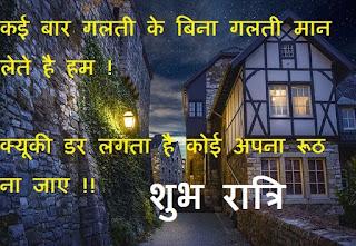 cute good night hindi quotes