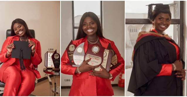 Beautiful 18-year-old Graduates With First-Class In Economics, Bags 5 Awards From Babcock University