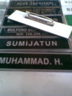 name tag papan nama virgo stempel semarang