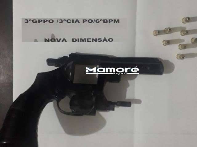Polícia Militar de Nova Dimensão prende homem por porte ilegal de arma