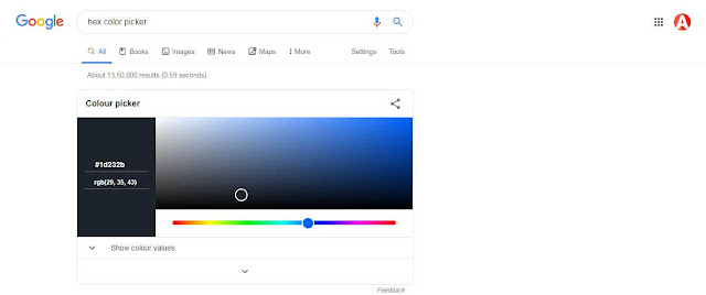 Hex Color Picker google trick