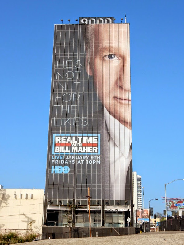 Real Time Bill Maher He's not in it for likes billboard