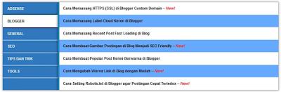 Sitemap SEO Blogspot Versi Kedua