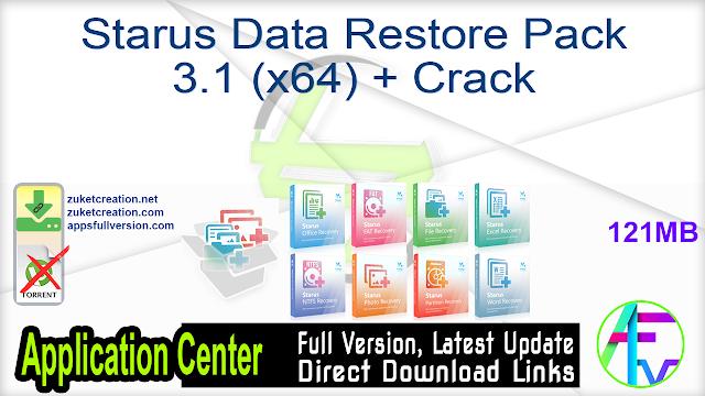 Starus Data Restore Pack 3.1 (x64) + Crack