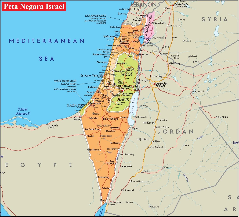 Peta Negara Israel