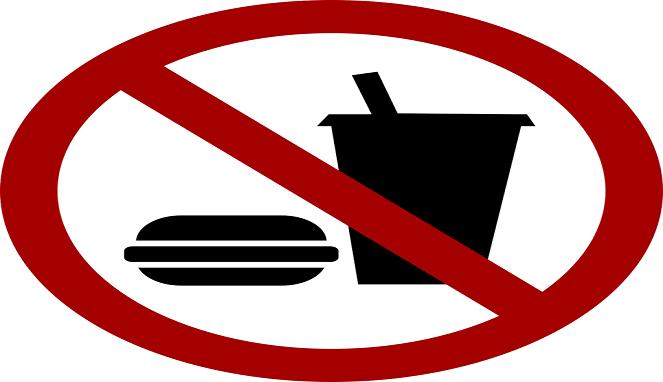 Download Gambar Larangan Membawa Makanan Dan Minuman