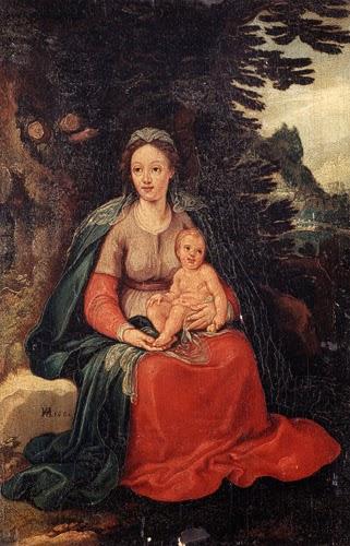Virgem e o Menino - Hans Von Aachen e suas pinturas ~ Um grande pintor do estilo maneirista