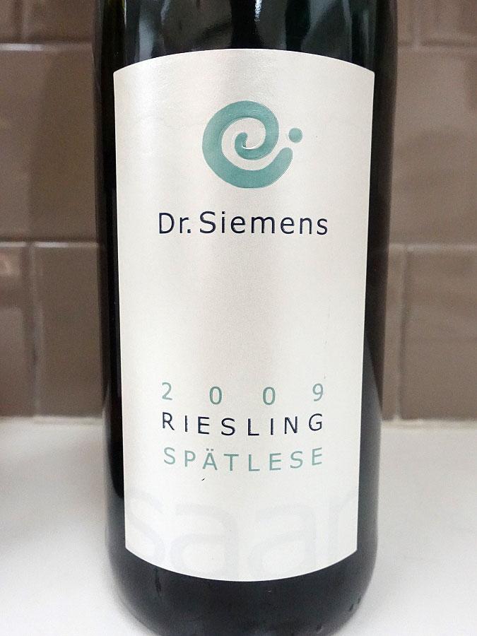 Dr. Siemens Herrenberg Riesling Spätlese Feinherb 2009 (91 pts)