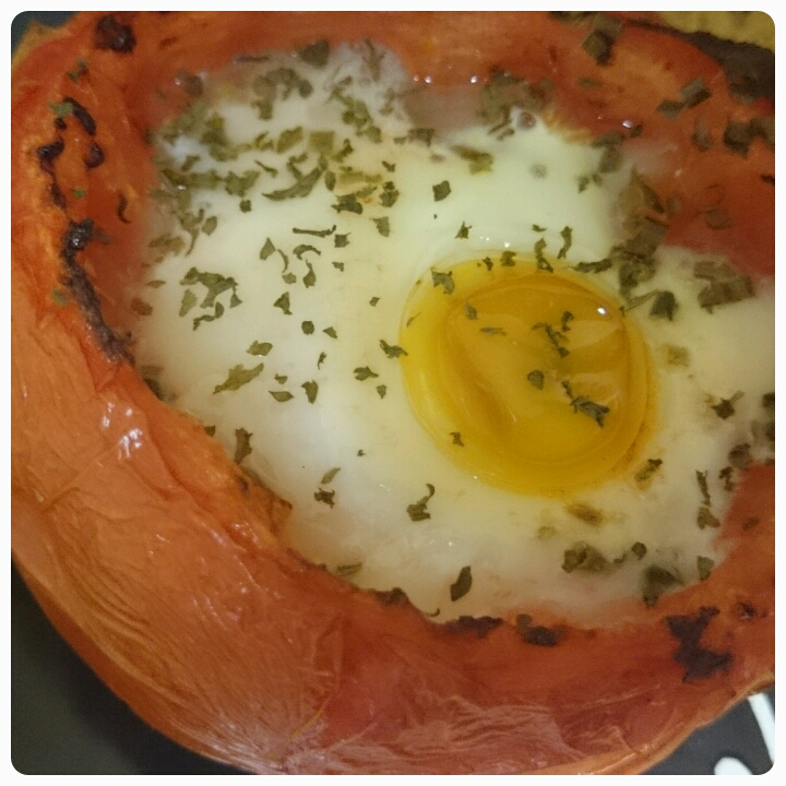 baked tomato and egg