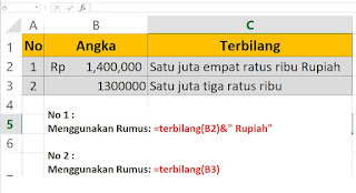 Cara Merubah Angka Menjadi Huruf Terbilang di Excel