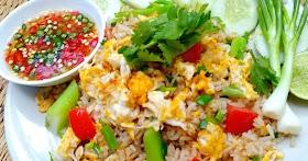 ข้าวผัดไข่ง่ายๆแต่ทานได้อิ่มท้องทั้งเด็กผู้ใหญ่ พร้อมสูตรลับทำน้ำปลาพริก