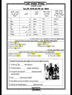 مذكرة لغة إنجليزية كاملة للصف الاول الاعدادي الترم الاول 2020