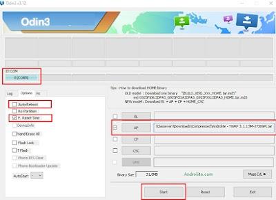 Cara ROOT dan pasang TWRP Samsung J3 PRO SM-J330G Lengkap Mudah Berhasil