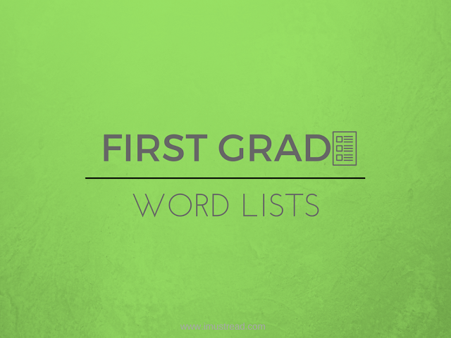 List of words in printable PDF format to practice english reading for first grade students