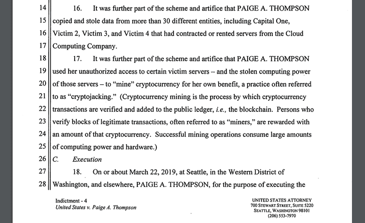 Paige Thompson Indictment