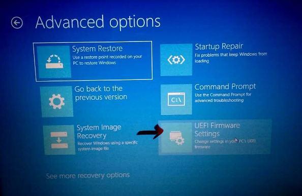 cara masuk UEFI firmware settings