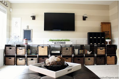 Family Room Makeover, Industrial Style